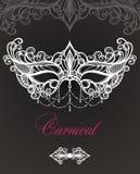 Maschera di carnevale su fondo nero royalty illustrazione gratis