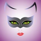 Maschera di Cat Woman Fotografia Stock