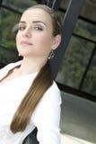 Maschera di giovane donna di affari Fotografia Stock Libera da Diritti