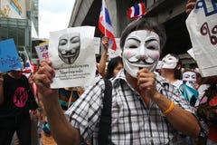 Maschera di Guy Fawkes Fotografie Stock