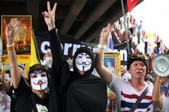 Maschera di Guy Fawkes Fotografia Stock