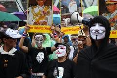 Maschera di Guy Fawkes Immagine Stock