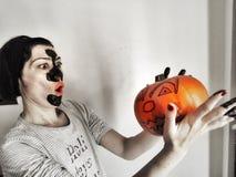Maschera di Halloween Immagini Stock Libere da Diritti
