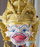 Maschera di Hanuman nello stile classico tailandese di Khon della storia di Ramayana Immagini Stock