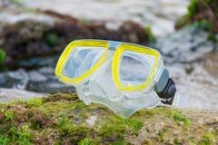 Maschera di immersione subacquea Fotografia Stock