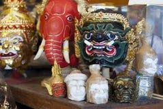 Maschera di Khon per la prestazione messa in scena tradizionale tailandese Fotografia Stock