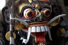 Maschera di legno del barong di balinese immagine stock libera da diritti