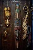 Maschera di legno di voodoo fotografia stock libera da diritti