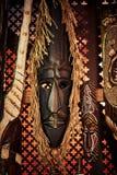 Maschera di legno di voodoo immagine stock