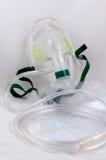Maschera di ossigeno con il sacchetto. Fotografia Stock