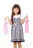 Maschera di piccola ragazza asiatica Fotografia Stock Libera da Diritti