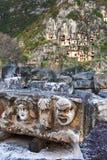 Maschera di pietra della tomba Fotografia Stock Libera da Diritti