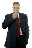 Maschera di protezione dell'uomo d'affari Fotografia Stock Libera da Diritti
