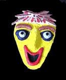 Maschera di protezione felice Fotografie Stock Libere da Diritti