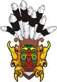 Maschera di protezione tribale antica Immagini Stock