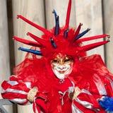Maschera di rosso del burlone Immagini Stock Libere da Diritti