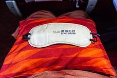 Maschera 2 di sonno di linea aerea fotografie stock libere da diritti