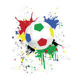 Maschera di un calcio Immagine Stock