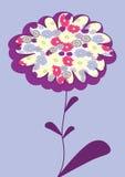 Maschera di vettore con il fiore illustrazione vettoriale