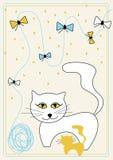 Maschera di vettore con il gatto illustrazione vettoriale