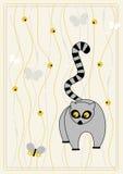 Maschera di vettore con il lemur illustrazione vettoriale