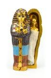Maschera dorata egiziana dei pharaohs Fotografia Stock Libera da Diritti