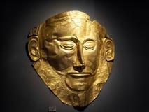 Maschera dorata famosa di Agamemnon Fotografia Stock Libera da Diritti
