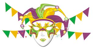 Maschera e hub illustrazione di stock