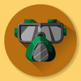 Maschera e respiratore - attrezzatura protettiva per lavoro al facto royalty illustrazione gratis