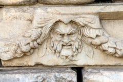 Maschera greca del teatro Fotografie Stock Libere da Diritti