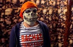 Maschera Halloween Frenchkiss di spavento del pirata immagine stock