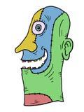 Maschera immaginativa di colore illustrazione di stock