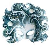 Maschera interna e carnaval che comprende l'elemento di acqua, isolato su bianco Immagine Stock
