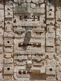 Maschera maya scolpita in pietra Fotografia Stock