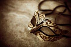 Maschera misteriosa del ballo mascherato Immagini Stock