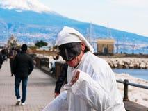 Maschera napoletana tradizionale di Pulcinella Fotografia Stock Libera da Diritti