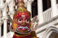 Maschera orientale al carnevale di Venezia Fotografia Stock
