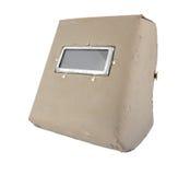 Maschera protettiva della saldatura isolata su fondo bianco Fotografia Stock Libera da Diritti