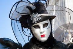 Maschera romantica di carnevale di Venezia Fotografia Stock