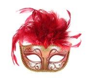 Maschera in rosso ed oro immagini stock libere da diritti