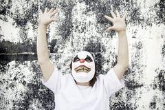 Maschera spaventosa del pagliaccio fotografia stock libera da diritti