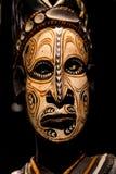 Maschera spaventosa della Papuasia Fotografia Stock
