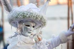 Maschera sul carnevale, piazza San Marco, Venezia, Italia Fotografia Stock