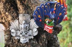 Maschera tradizionale dello Sri Lanka immagini stock