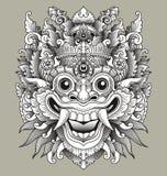 Maschera tradizionale di Barong di balinese Immagini Stock