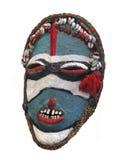 Maschera tribale primitiva isolata. Immagini Stock Libere da Diritti