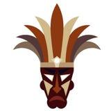 Maschera tribale su un fondo bianco Fotografia Stock Libera da Diritti