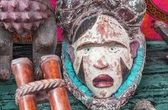 Maschera tribale variopinta dall'Africa Fotografia Stock Libera da Diritti