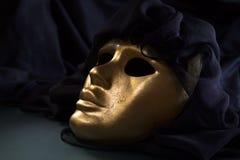 Maschera veneziana del vecchio oro fotografia stock libera da diritti
