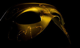 Maschera veneziana dell'oro Immagine Stock Libera da Diritti